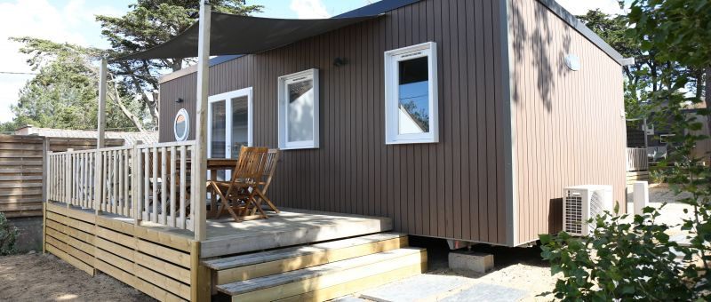 location mobil home 3 chambres luxe espace cottage camping bel air pornichet